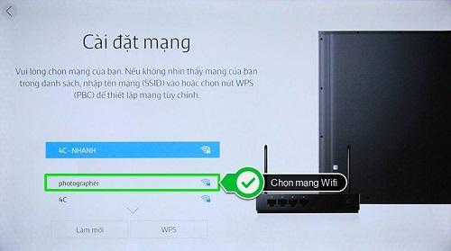 kiết nối mạng Smart TV Samsung thật đơn giản