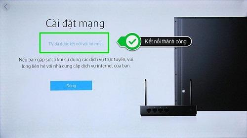 kiết nối mạng Smart TV Samsung không dây