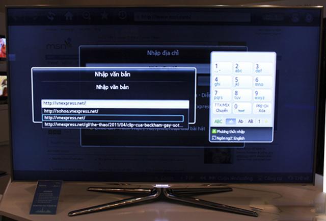 khắc phục tivi samsung không gõ được số trên bàn phím không đây